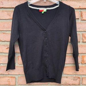 FERVOUR Black Cardigan Sweater Medium
